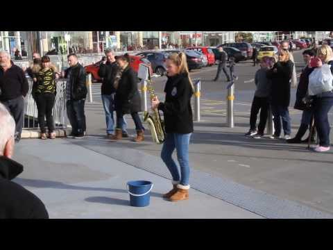castlepoint flashmob - Bournemouth Youth Marching Band