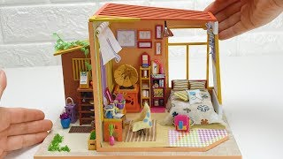 DIY Miniature Dollhouse Room with Garden