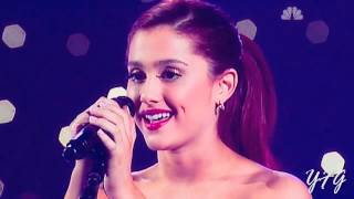Ariana Grande performing her remake of ''Only girl in the World'' (50s/60s style)