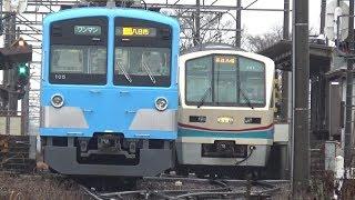 『あかね』号ラストラン仕様〔5〕快速列車と交換! (近江鉄道)    巛巛