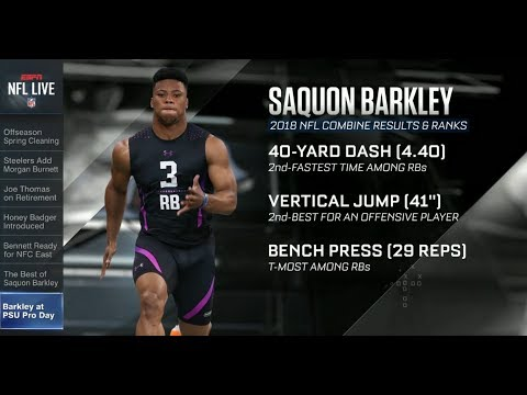 Saquon Barkley at Penn State Pro Day | NFL Live | Mar 20, 2018