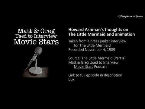Howard Ashman on The Little Mermaid | 1989 Interview | Matt & Greg Used to Interview Movie Stars