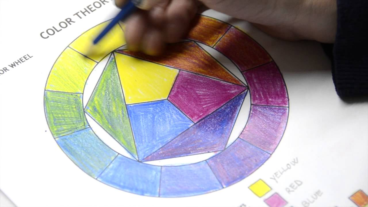 color wheel and color theory worksheets in colored pencils youtube. Black Bedroom Furniture Sets. Home Design Ideas