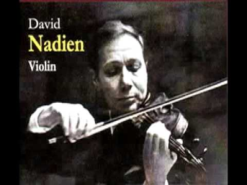 David Nadien plays Sarasate's Introduction and Tarantella