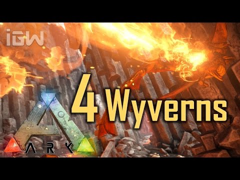 4 Wyverns vs. Titanosaur - OFFICIAL PVE | ARK: Survival Evolved