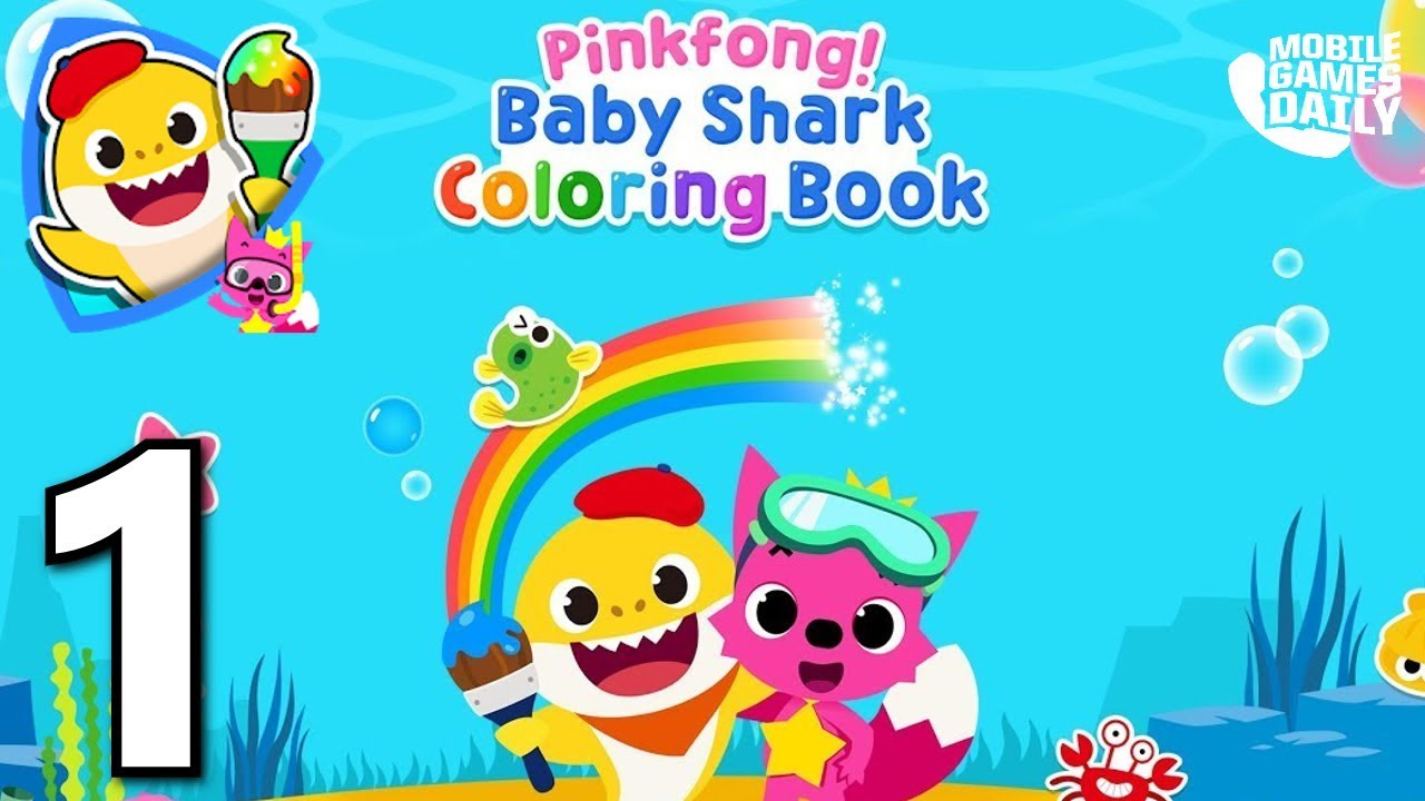 Pinkfong Baby Shark Coloring Book Gameplay Part 1 Ios Android Games For Kids