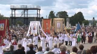 Vissvētākās Jaunavas Marijas Debesīs uzņemšanas svētkos Aglonā 15/05/2014