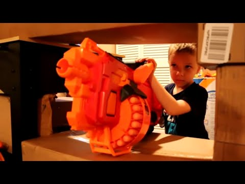 Nerf War:  The Ultimate Box Fort