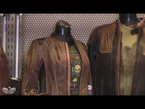 Vintage Brown Leather Triple Vent  Riding Jackets From Harley-Davidson!