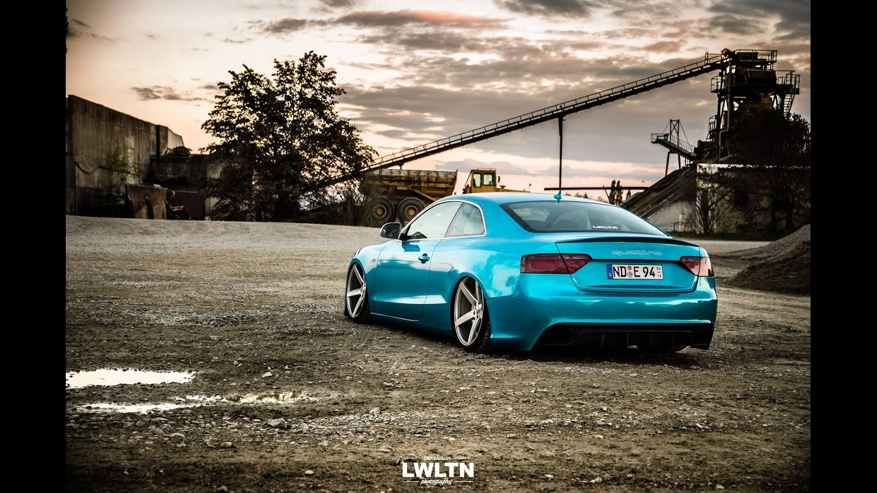tuning audi a5 coup 3 0 tdi quattro vossen cv3 youtube. Black Bedroom Furniture Sets. Home Design Ideas
