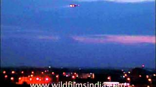 Flight approaching Indira Gandhi International Airport