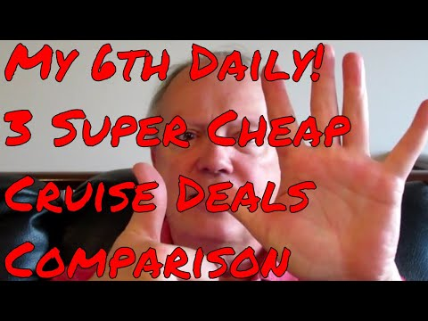 2018 Cheap Last Minute Cruise Deals Let's Compare! Norwegian Royal Caribbean It's My 6th Daily!