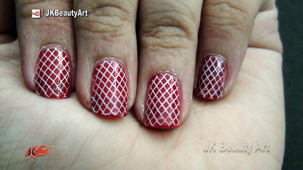 Checkered nail art Tutorial | #Love #NailArt #NailStamping | JK ...