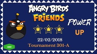 Angry Birds Friends Tournament 301-A All Levels POWER UP Walkthrough