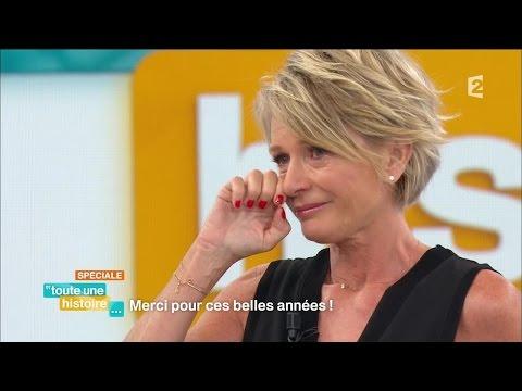 Sophie Davant en larmes pour l'arrêt de Toute une histoire