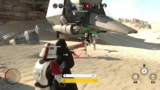 Star Wars Battlefront Amazing Glitch Half Storm Trooper Half Darth Vader
