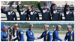 Blue Angels and Thunderbirds Work Together
