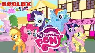 Mein kleines Pony Spiel auf Roblox. Gameplay My Little Pony