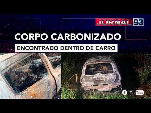 Corpo é encontrado carbonizado dentro de carro em Sinop