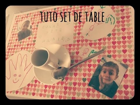 Tuto set de table 1 kit offert sur demande youtube for Set de table matelasse