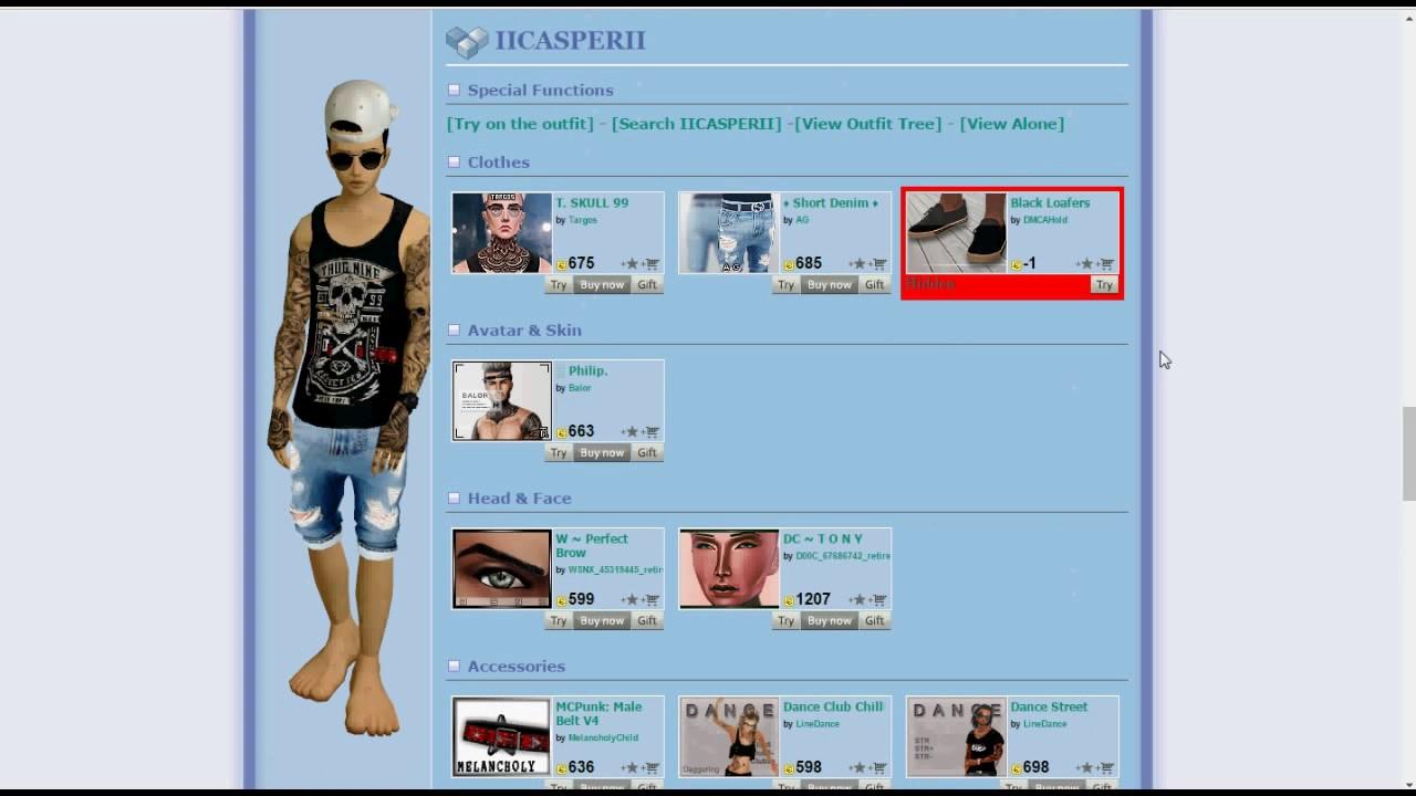 View hidden outfits imvu
