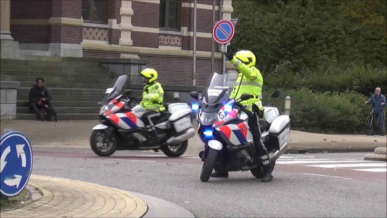 5x Politie Motors Begeleiden Prinses Beatrix In Tiel Youtube