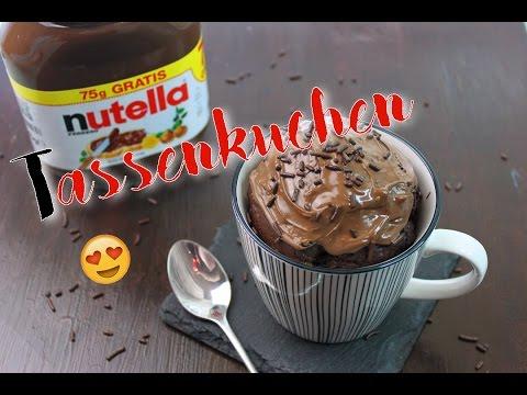 Nutella Tassenkuchen Backen Nutella Kuchen Schnell Einfach