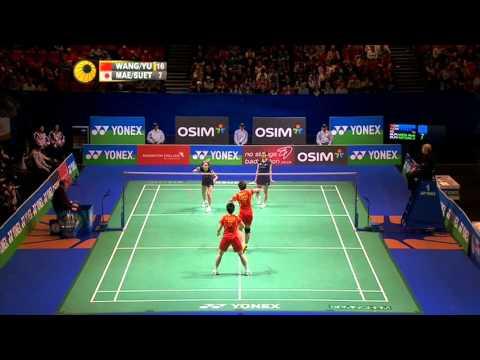 [Highlights] 2013 All England SF WD Wang Xiao Li Yu Yang vs Miyuki Maeda Satoko Suetsuna
