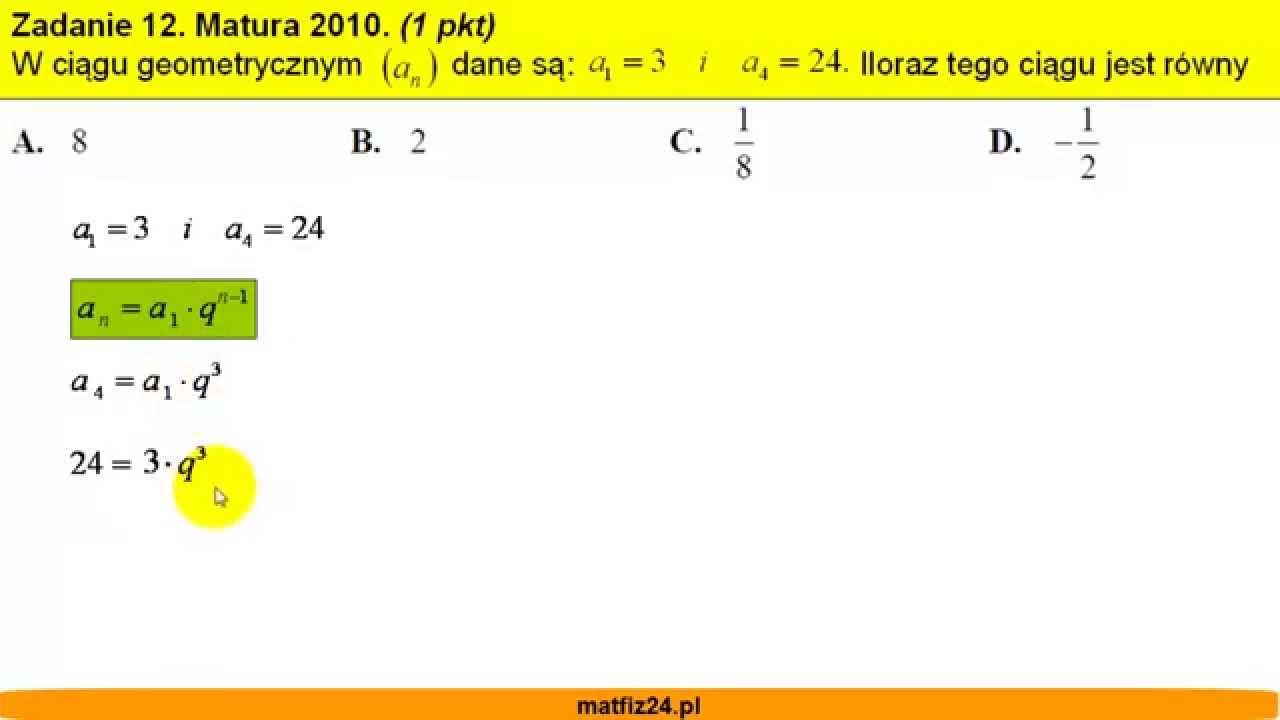 matura z matematyki maj 2010