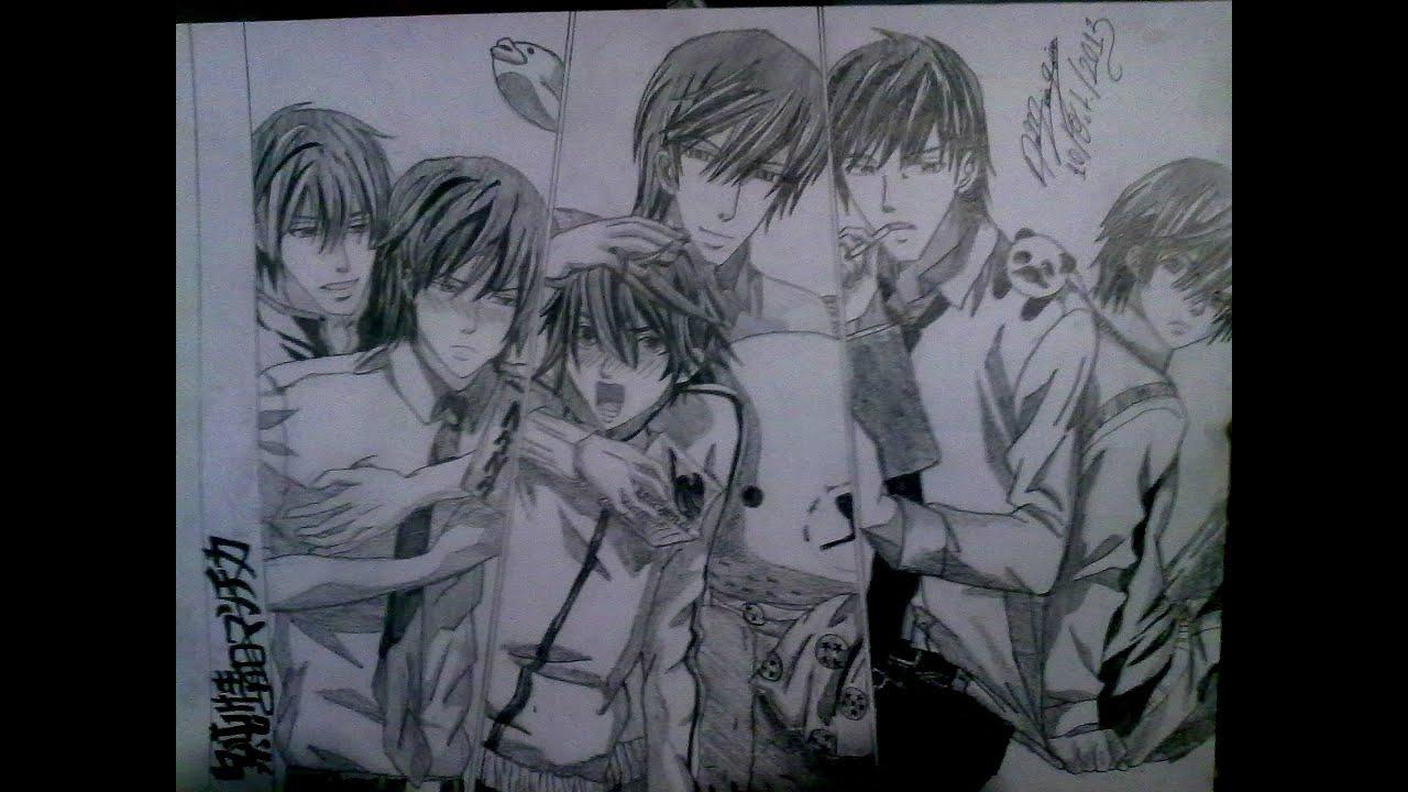 Dibujando Personajes Del Anime Junjo Romantica