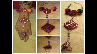 DIY Hand Jewellery How to make Navratri Jewellery/Ornaments I Navratri Craft -5