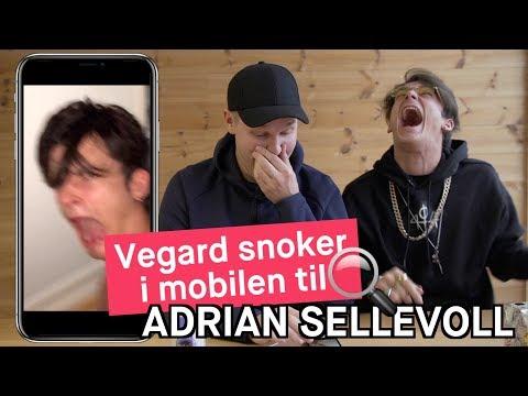 Vegard Harm snoker i mobilen til Adrian Sellevoll