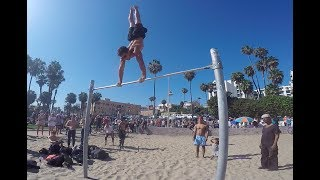 Michael Peres   Muscle Beach Training 06/25/2017