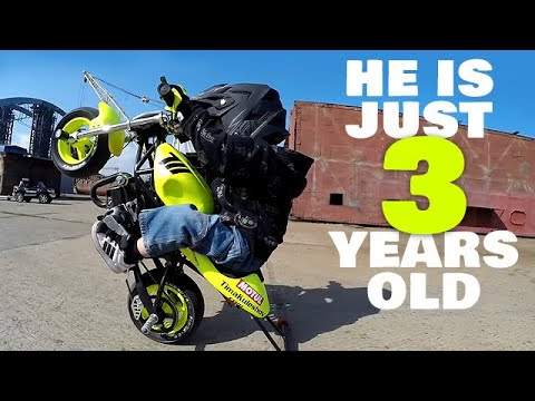 Download Tima Kuleshov - 3 Year Old Boy Who Rides Motorbikes