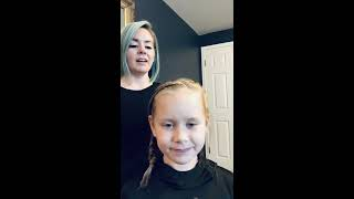 Fishtail Braids At Home Kids Hairstyle Tutorial with Lindsey Phelps | Aveda