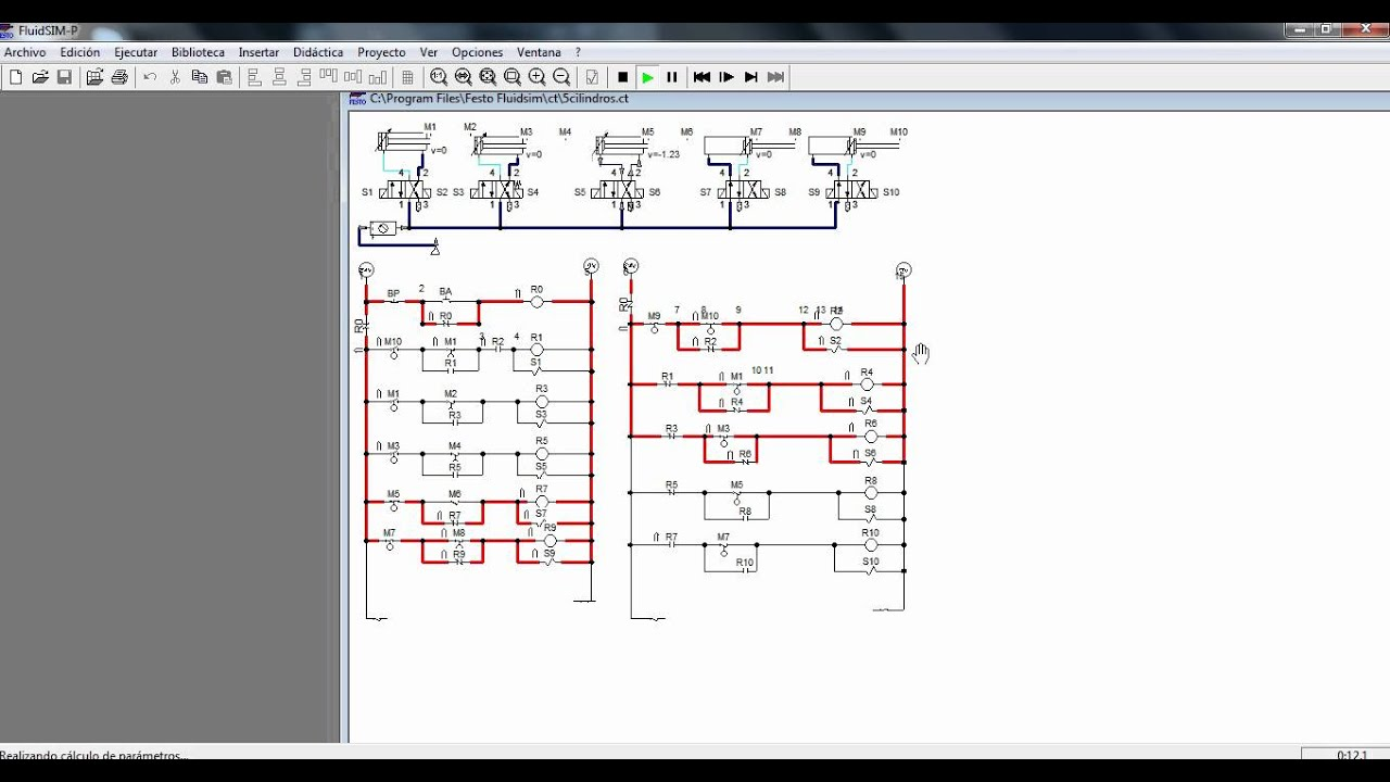 Plc Wiring Diagram Auto Electrical Profibus Connector Tarea De Fluidsim