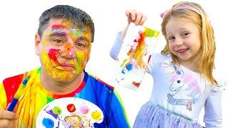 Nastya baba için bir çocuk şarkısı söyle, eğlenceli çocuk şarkıları