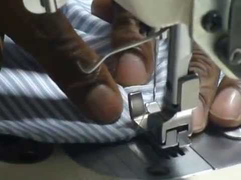 Industrial sewing machine training - Cuff Attaching to Shirt - IIGM Apparel Engineering Center