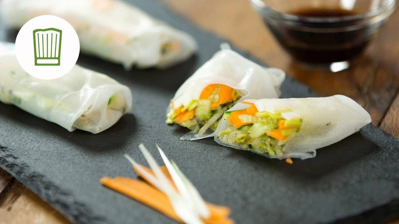 vegane sommerrollen summer rolls selbst gemacht youtube. Black Bedroom Furniture Sets. Home Design Ideas