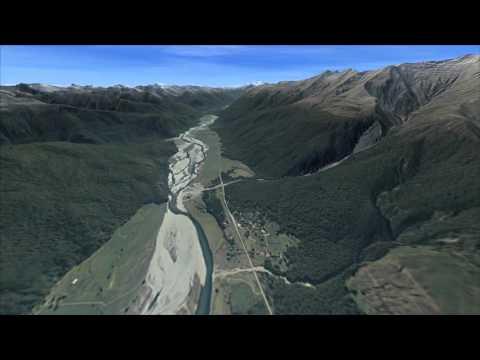 maps virtual NZ road trip - Bluff  Queenstown Wanaka West Coast  Nelson  Picton  South Island 1371km