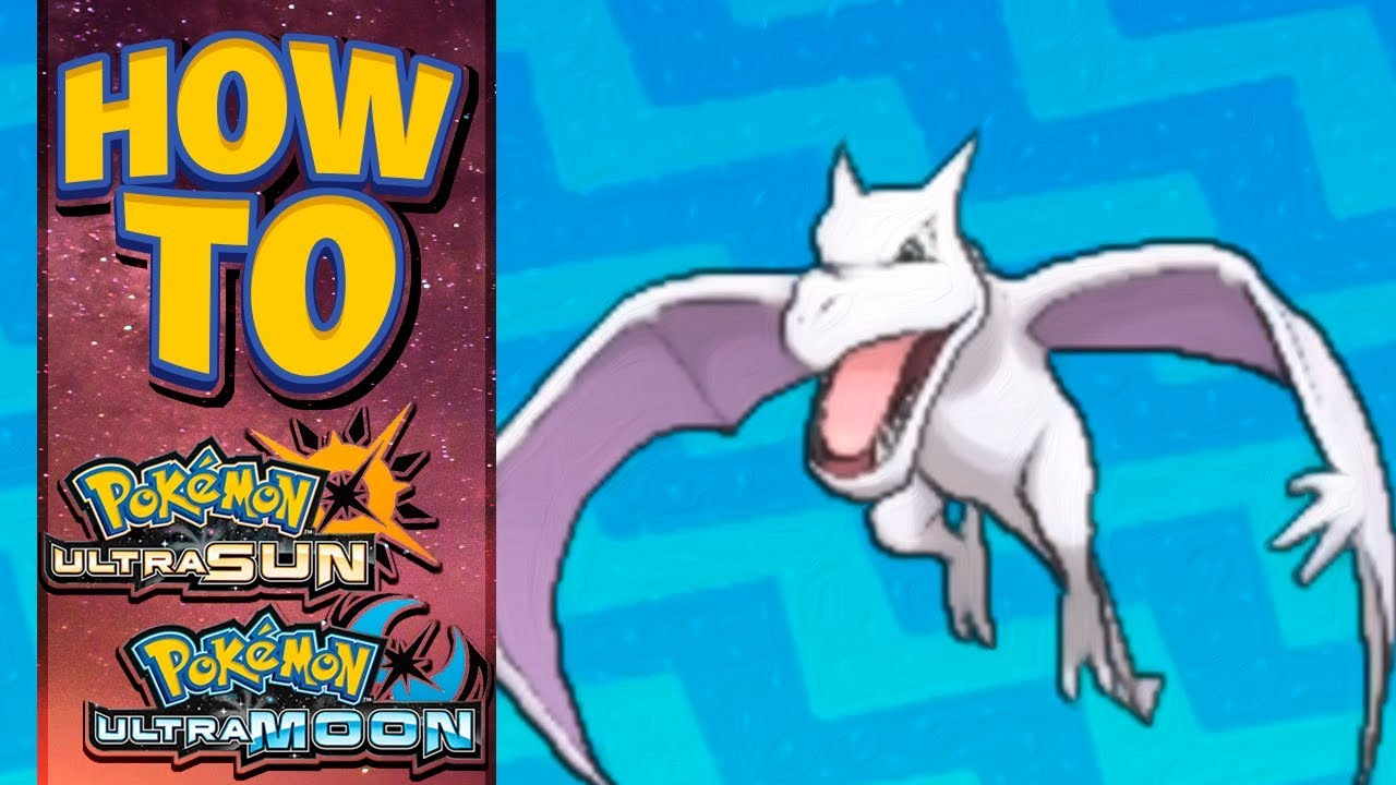 how to get aerodactyl in pokemon ultra sun and moon youtube