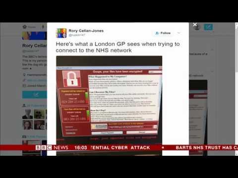 CYBER ATTACK HITS NHS ACROSS ENGLAND BREAKING NEWS EVERYONE PANIC USA China Spain London Europe Hot