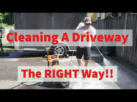 How To Clean A Driveway - Removing Rust Spots