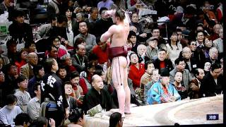 2012 Jan SUMO - Takanoyama v Tochinowaka - Day 14