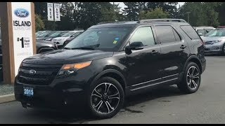 2015 Ford Explorer Sport W/ Leather, heated/Cooled Seats, backup Camera Review| Island Ford