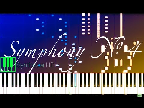 Symphony No. 4 in Bb major // BEETHOVEN (Arr. LISZT) [Piano Tutorial] (Synthesia)