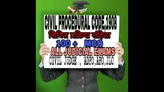 TEST SERIES FROM CIVIL PROCEDURAL CODE ,1908 for law office(JLO) Civil Judge (RJS , MPCJ)