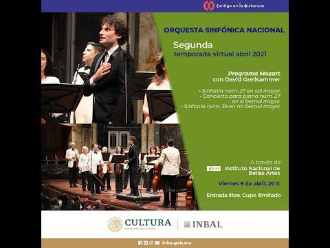Mozart con David Greilsammer / Orquesta Sinfónica Nacional / INBAL / México