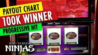 VGT SLOTS - $100,000 WINNER ON $100 MR. MONEYBAGS - VGT PROGRESSIVE JACKPOT & PAY CHART!!!!