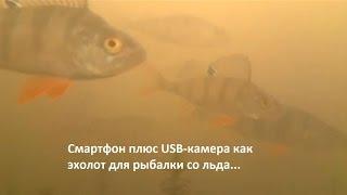 Смартфон плюс USB-камера как эхолот для рыбалки со льда(Показан практический вариант использования смартфона (плюс USB-камера) в качестве необычного эхолота для..., 2015-11-26T01:11:42.000Z)